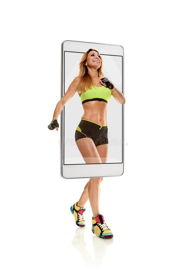 专业女性短跑选手 免版税图库摄影