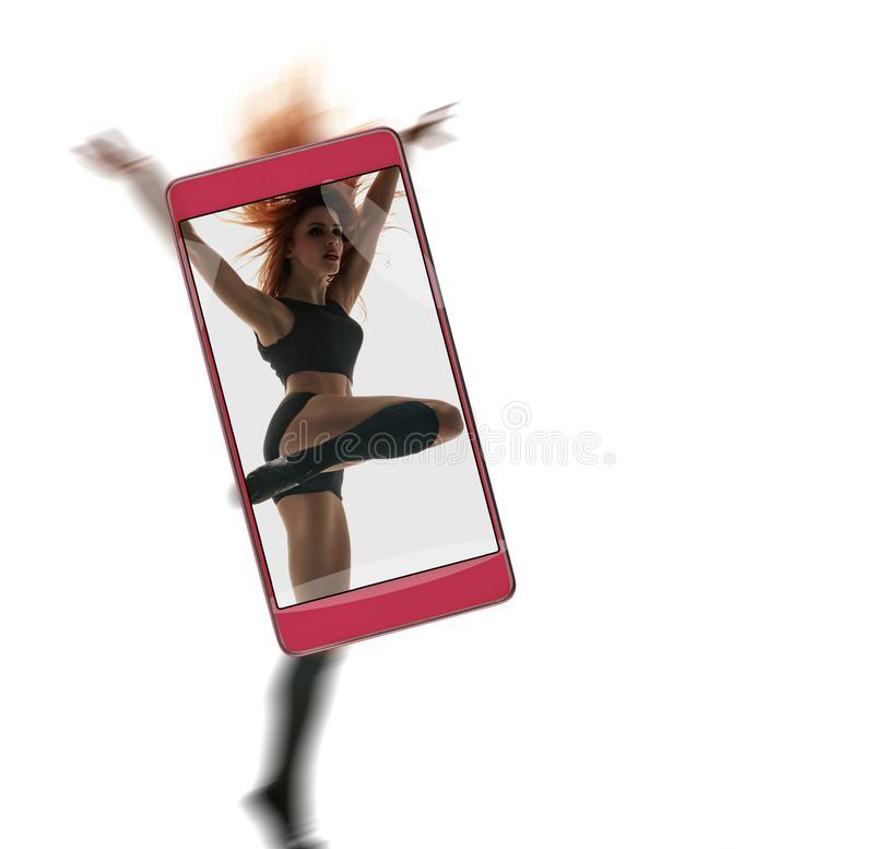 专业女性舞蹈家 库存图片