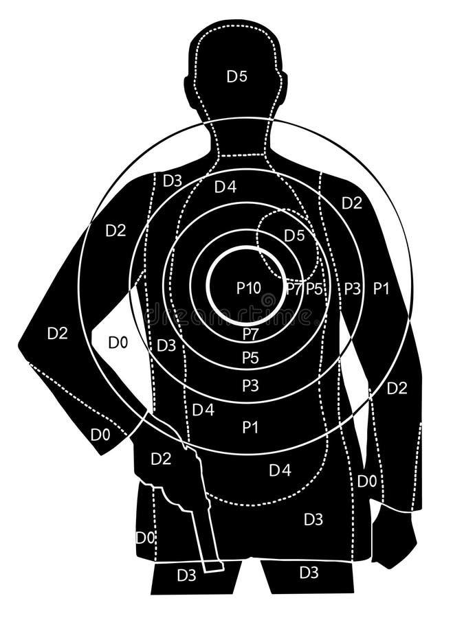 专业射击目标 向量例证