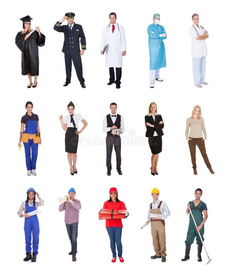 专业工作者,商人,厨师,医生, 库存照片