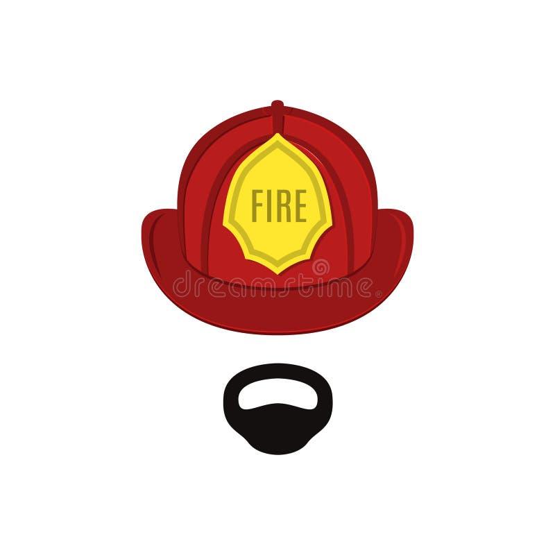 专业成套装备的消防队员 库存例证