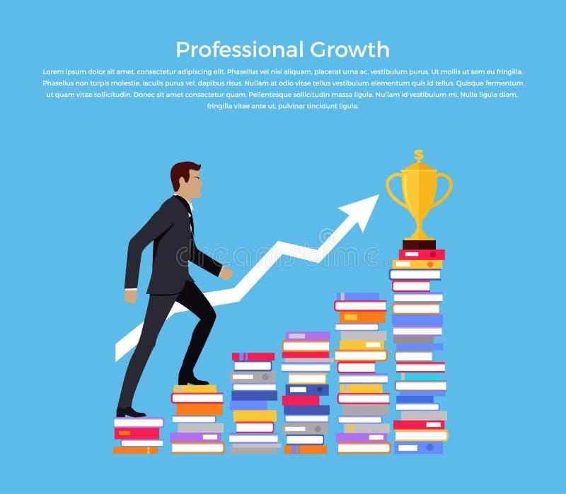 专业成长横幅设计 向量例证