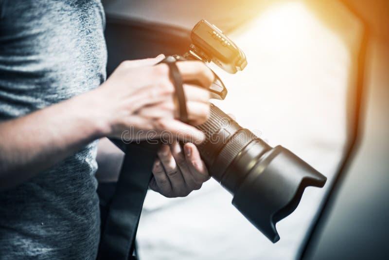 专业摄影工作 库存照片