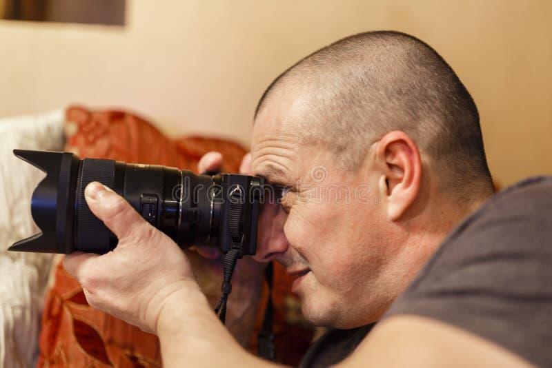 专业摄影师 免版税库存照片