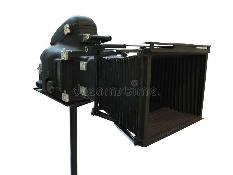 专业数字式在白色backgr隔绝的电影摄象机 库存照片
