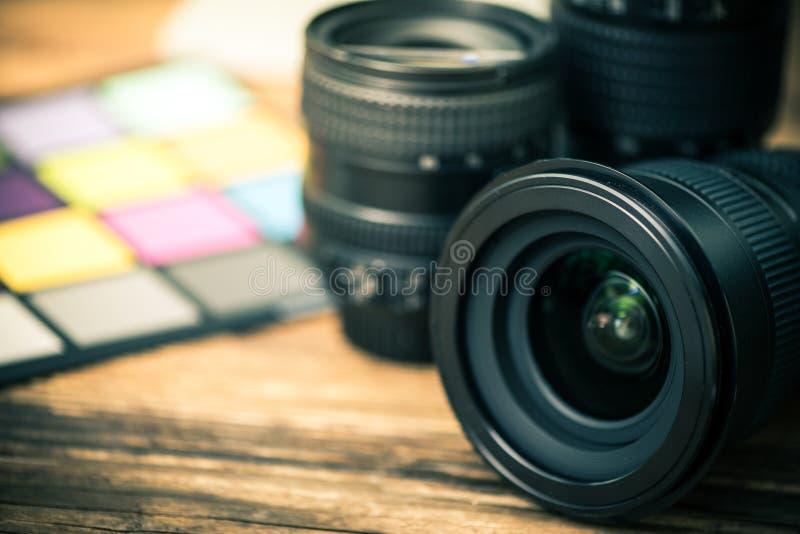 专业数字照片透镜 库存照片