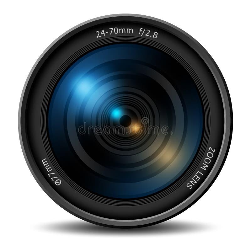 专业数字照相机变焦镜头 皇族释放例证