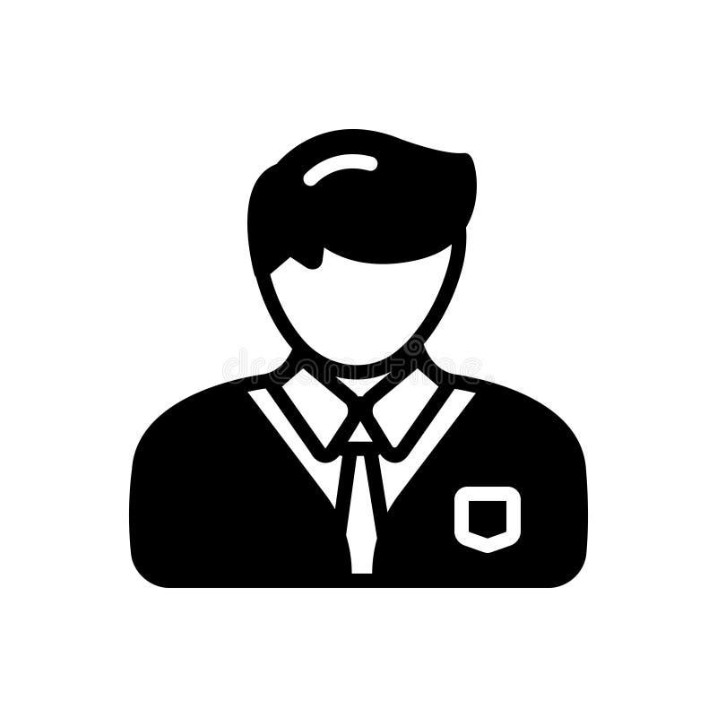 专业的黑坚实象,公开宣称和职业性 向量例证
