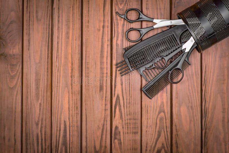 专业美发师工具 库存照片