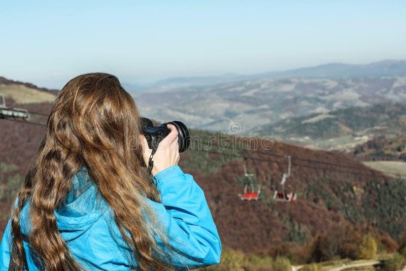 专业自然摄影师照相 免版税图库摄影