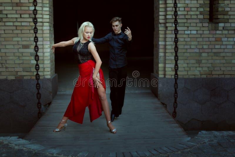 专业舞蹈家舞蹈探戈 免版税库存图片