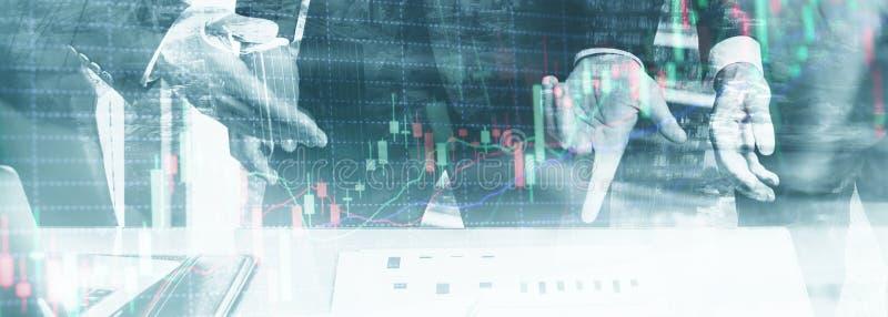 专业贸易商两次曝光  储蓄蜡烛注标股市 向量例证