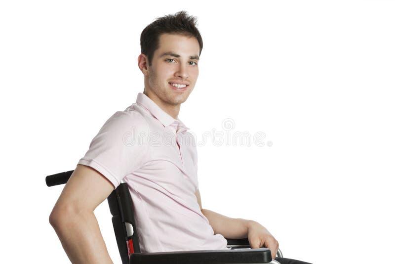 专业轮椅年轻人 免版税库存照片