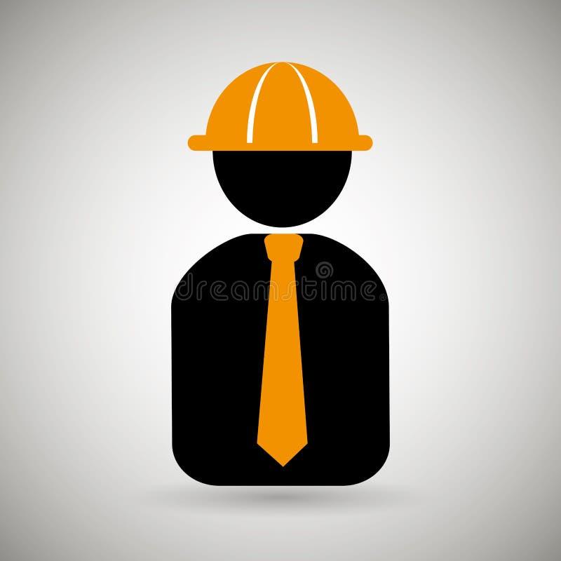 专业建筑设计 皇族释放例证