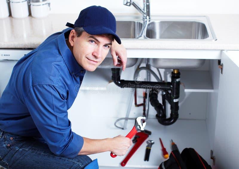 专业水管工。 免版税图库摄影