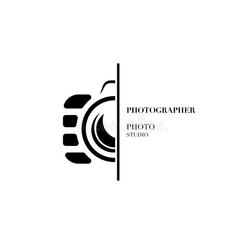 专业pho的抽象照相机商标传染媒介设计模板 向量例证