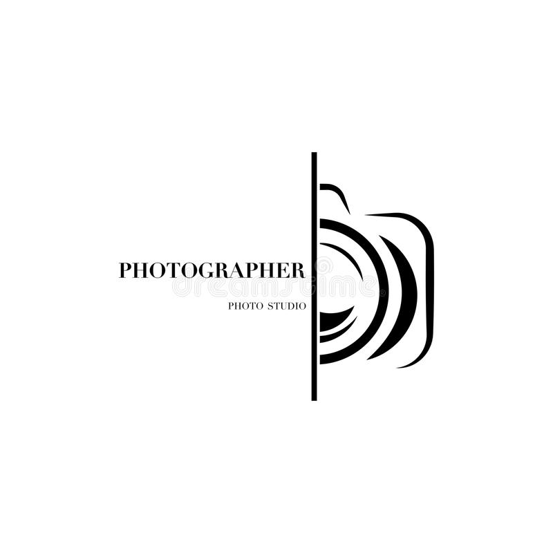 专业pho的抽象照相机商标传染媒介设计模板 皇族释放例证