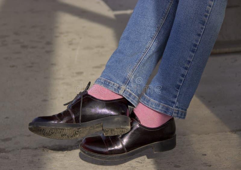 专利皮鞋 免版税图库摄影