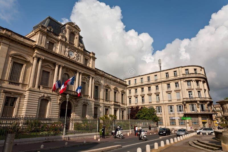 专区在蒙彼利埃 免版税库存图片