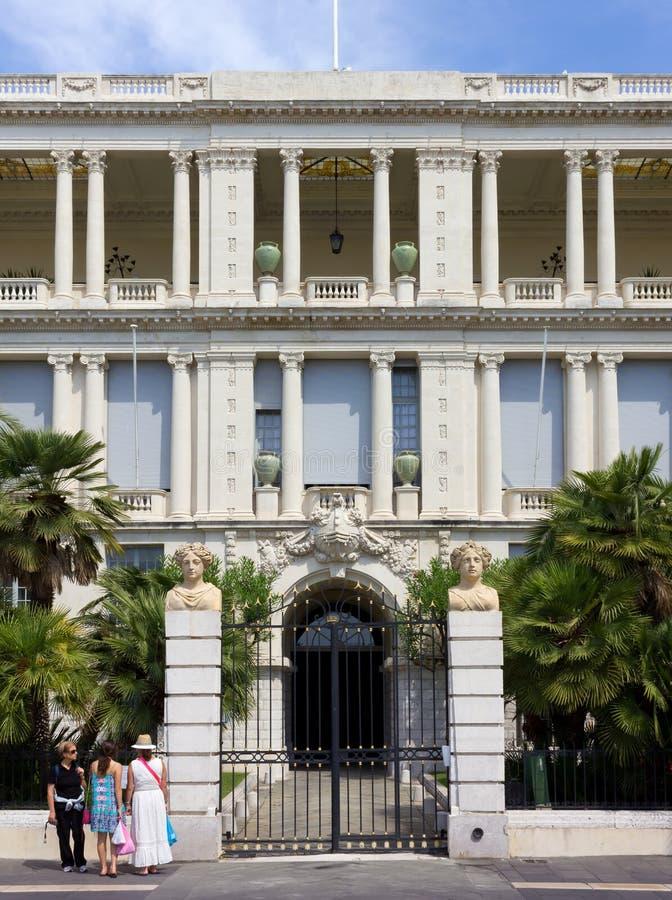 专区宫殿在尼斯,法国 库存图片
