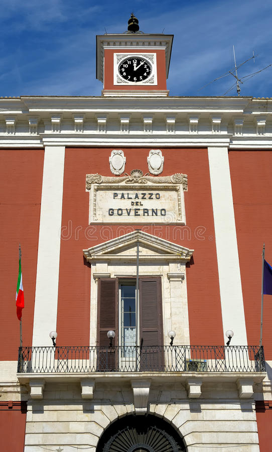 专区的宫殿在巴里大广场  图库摄影