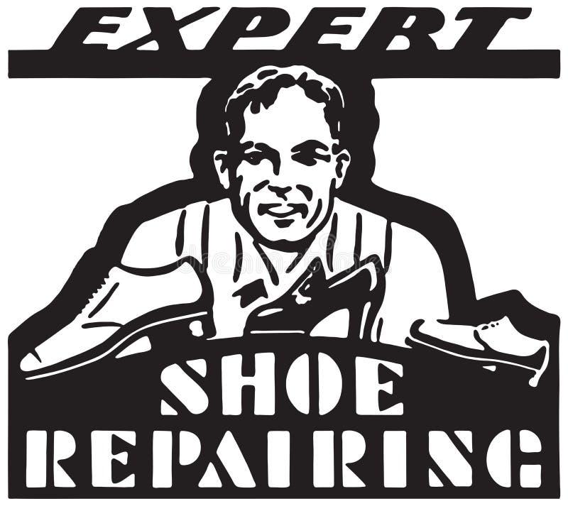 专家修鞋 向量例证