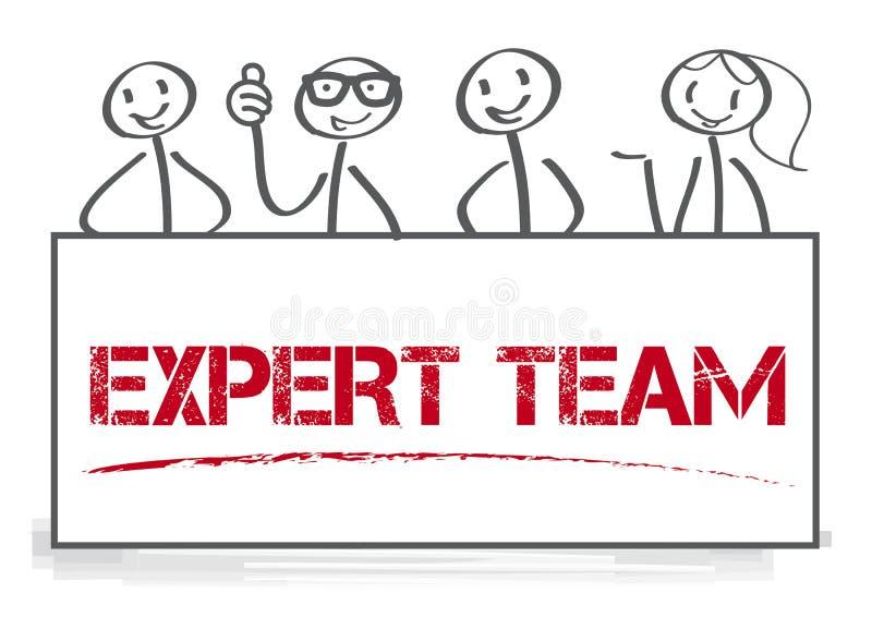 专家小组传染媒介例证概念 库存例证