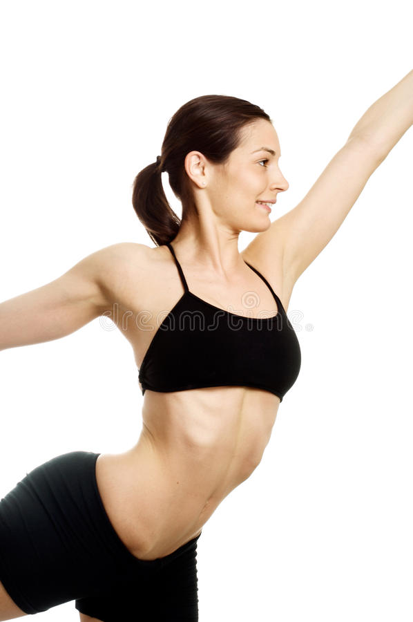 专家级的姿势瑜伽 库存图片