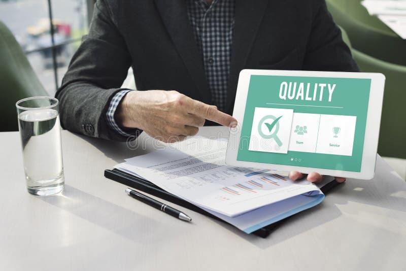 专属优质品质保证的概念 免版税库存图片