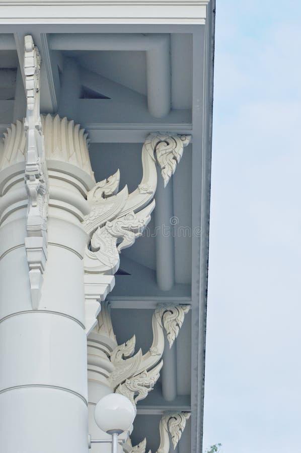 专栏,柱子细节Wat (寺庙)在泰国 免版税库存图片