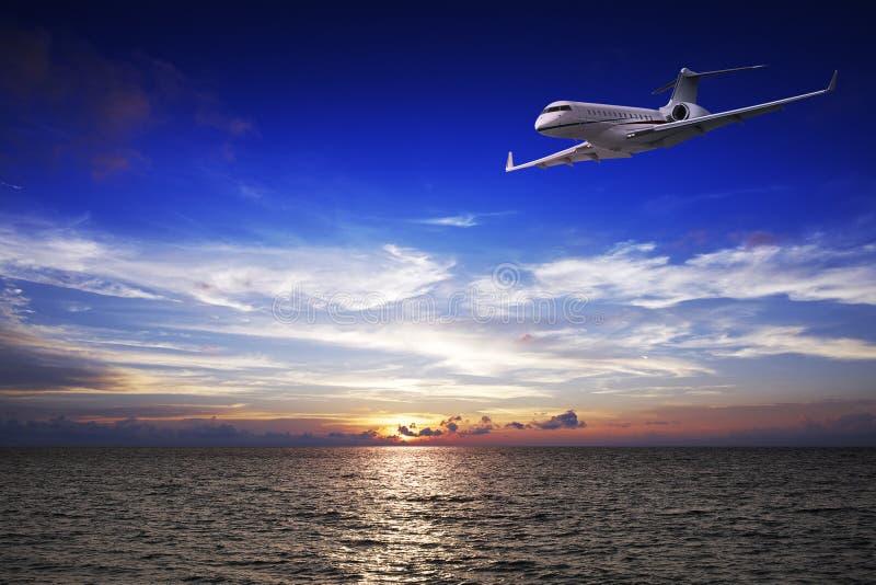 专用喷气机的豪华 图库摄影
