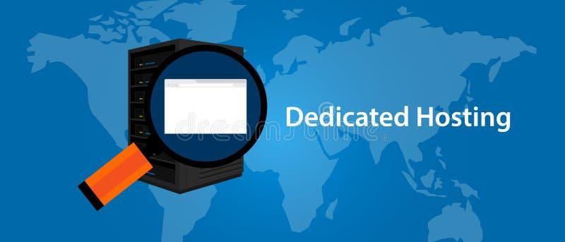 专用服务器网页寄存服务infrasctructure技术 库存例证