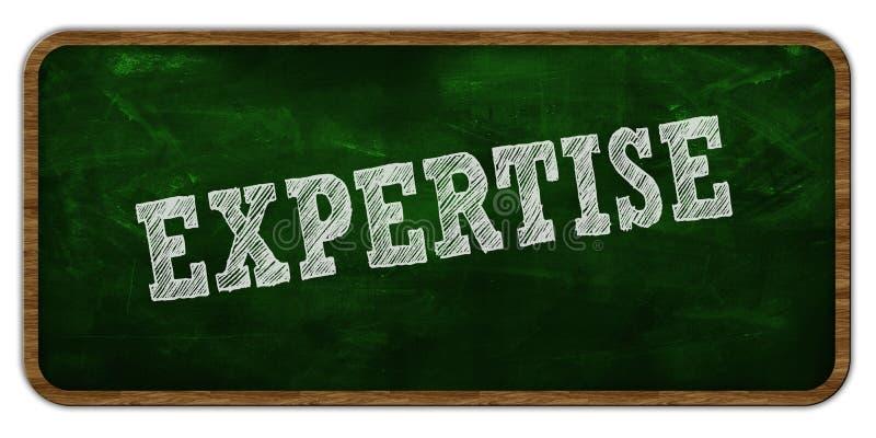 专门技术写与白垩在绿色黑板 木制框架 向量例证