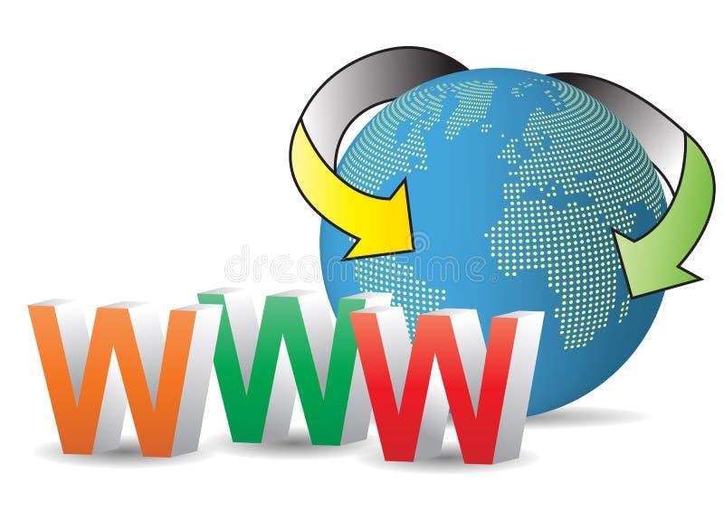 世界万维网 库存例证
