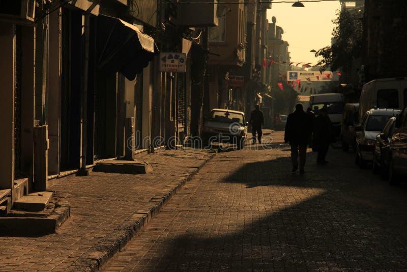 世界上最美丽的城市之一伊斯坦布尔及其天际线 图库摄影
