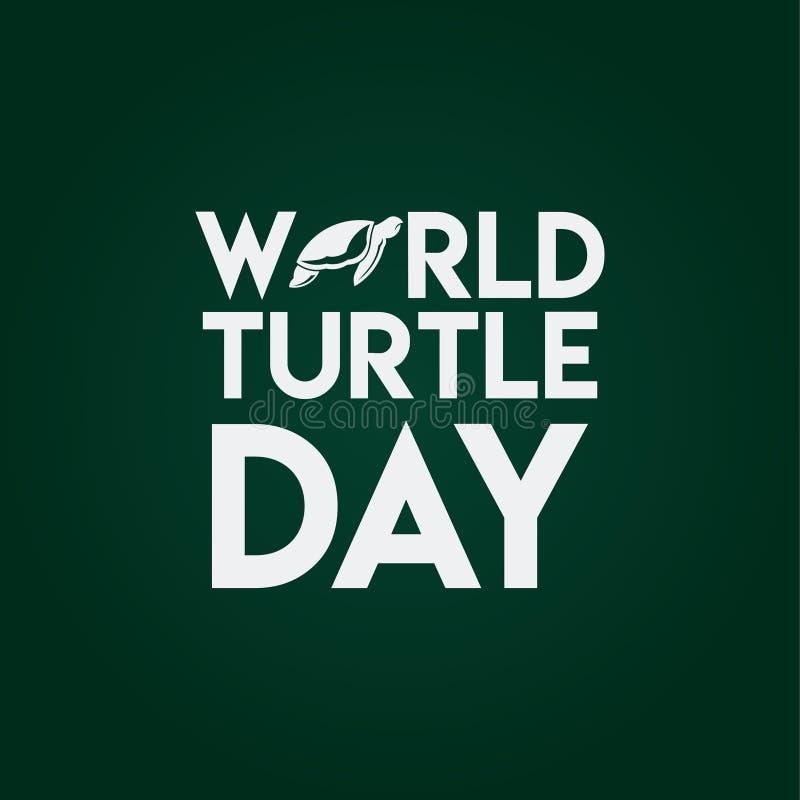 世界乌龟天传染媒介模板设计例证 皇族释放例证