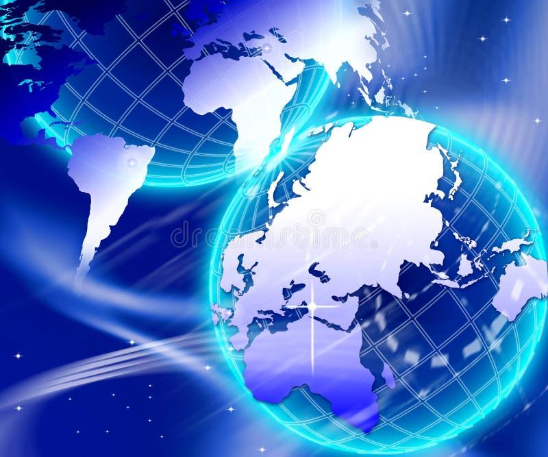 世界互联网背景 库存例证