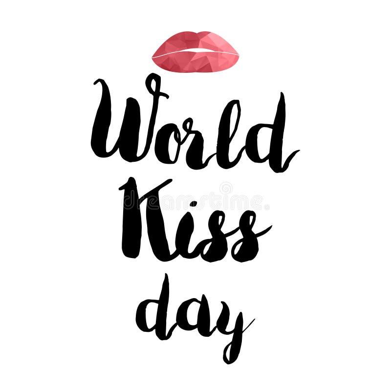 世界亲吻天 向量例证