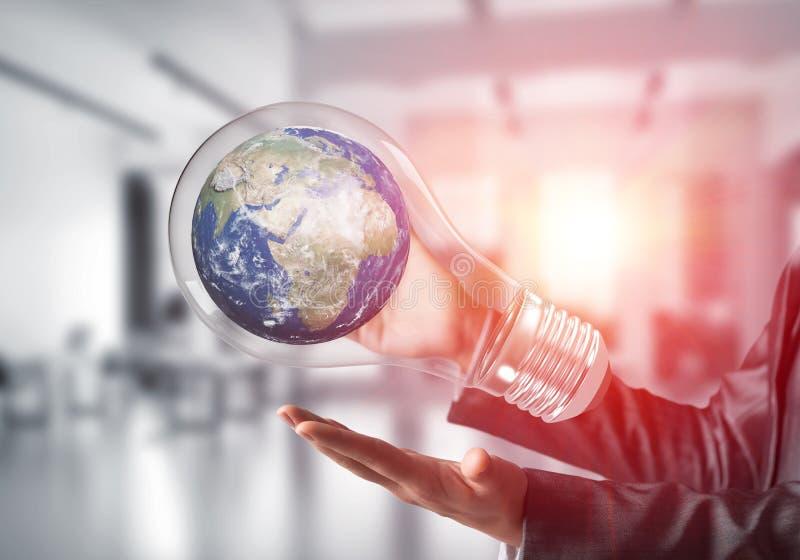 世界保护概念的创新 免版税库存照片
