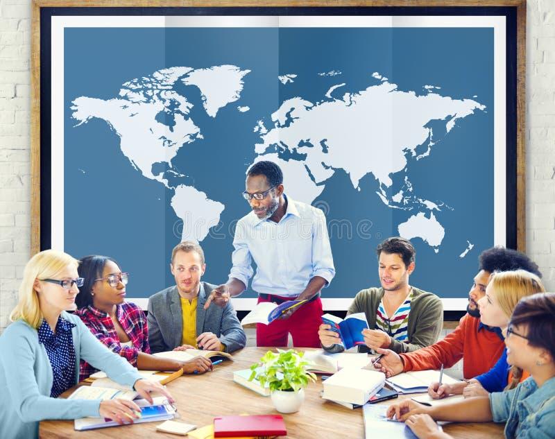 世界全球企业绘图全球化国际Co 库存照片