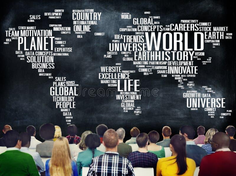 世界全球化国际生活行星概念 库存图片