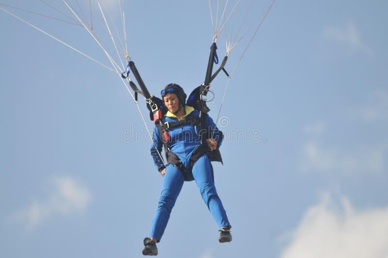 世界军事跳伞的冠军 免版税图库摄影