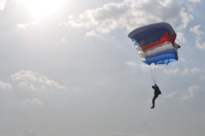 世界军事跳伞的冠军 免版税库存照片