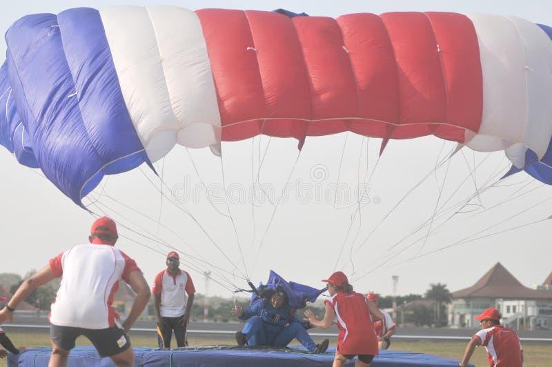 世界军事跳伞的冠军 免版税库存图片