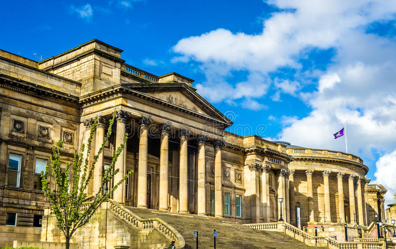 世界博物馆和步行者美术画廊在利物浦 库存照片