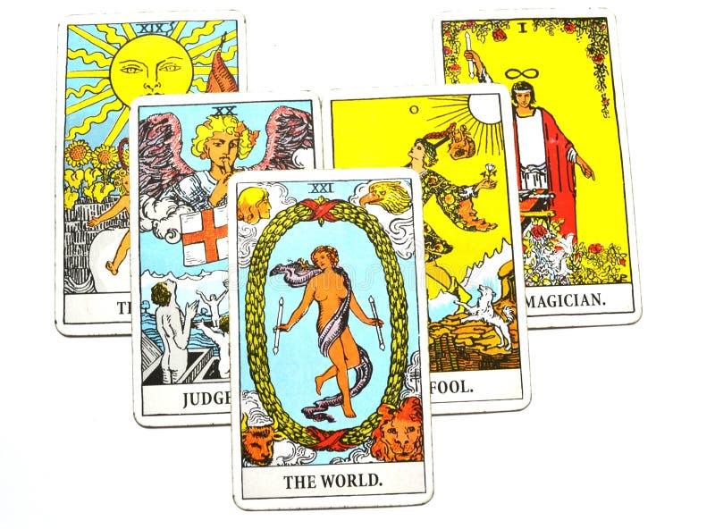 世界占卜用的纸牌旅行Succes最后阶段循环 向量例证