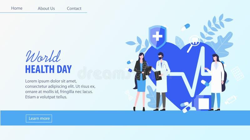 世界卫生日妇女耐心人医生Nurse 向量例证