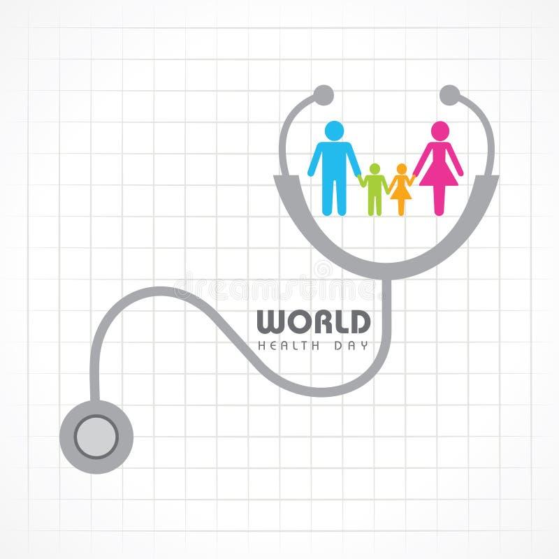 世界卫生日 库存例证