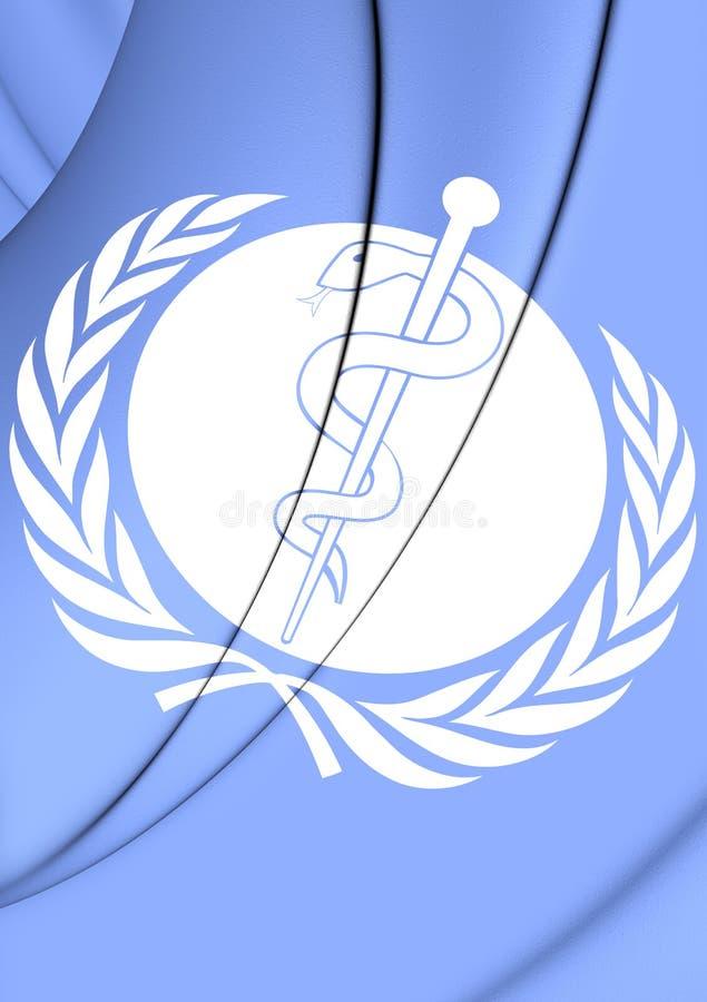 世界卫生组织旗子  皇族释放例证
