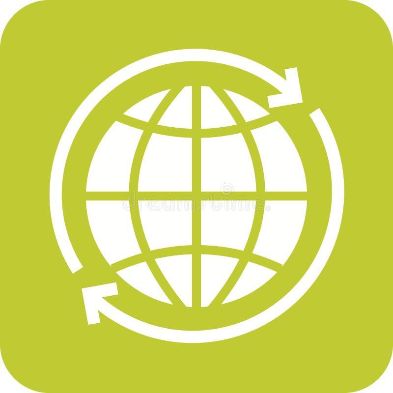 世界各地连接 向量例证